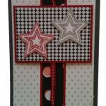 Weihnachtskarte oder auch Geburtstagskarte mit Sternen