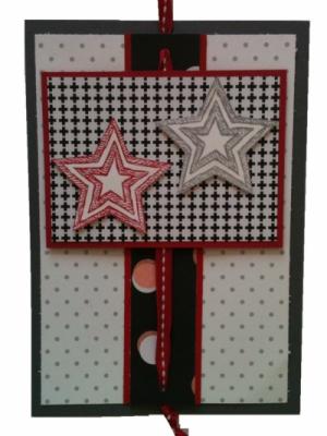 Geburtstagskarte oder Weihnachtskarte mit Sternen