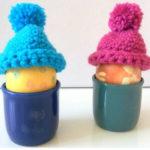 Lustige kleine Mützen als Eierwärmer bzw. zur Deko von Ostereiern