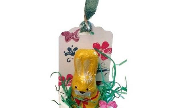 Geschenkverpackung für kleine Osterhasen
