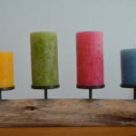 Kerzenhalter aus Holz – ideal für die lange Tafel