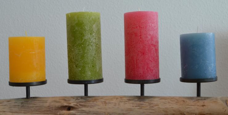 Kerzenhalter aus Holz - ideal für eine Tafel oder großen Tisch