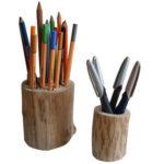 Stiftehalter aus Holz – Bastelanleitung