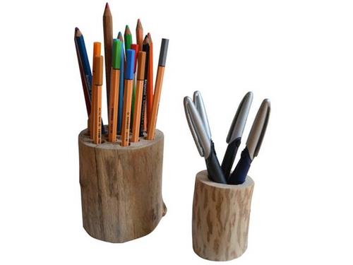 Stiftehalter asu Holz kannst Du ganz einfach selbst herstellen.