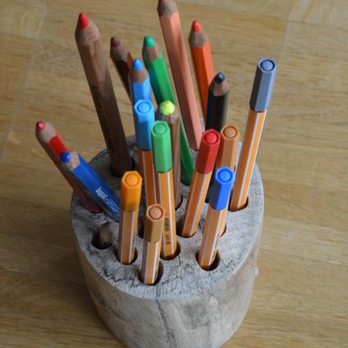 Stiftehalter aus Holz
