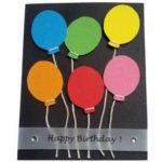 3D-Geburtstagkarte mit Luftballons – Bastelanleitung