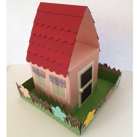Geschenkverpackung Haus und Garten zur Hauseinweihungsparty