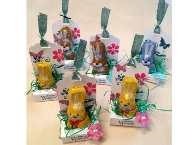 Osternest aus Papier - schnell gemacht, kleines Mitbringsel zu Ostern