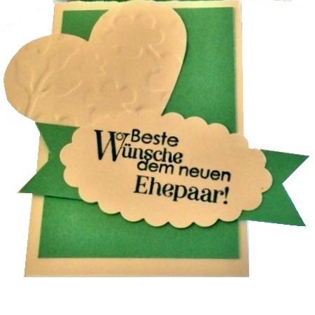 Stempelspruch auf der Geschenkverpackung zur Hochzeit