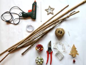 Benötigte Materialien für den Weihnachtsbaum