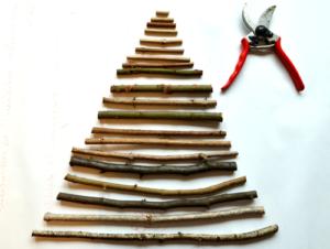 Die Äste sind entsprechend der Baumform zugeschnitten