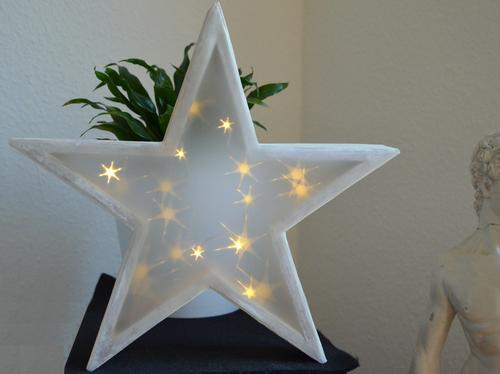 Mit einem Pappmaschestern und Effektfolie kannst Du tolle Weihnachtsdeko basteln.