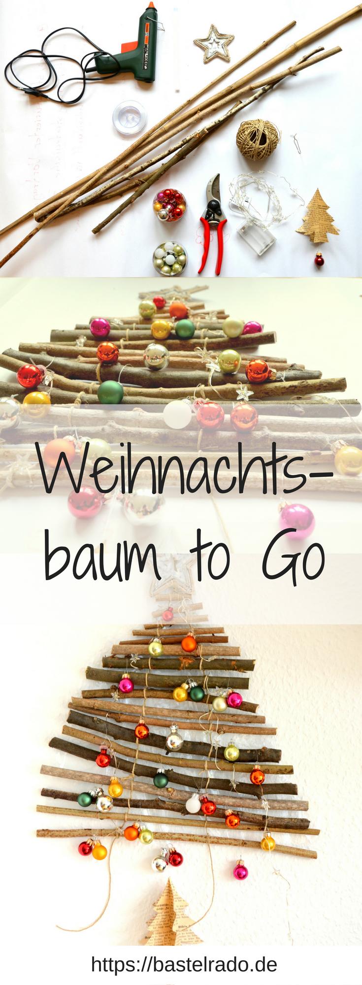 Weihnachtsbaum to go 2 bastelrado - Dekorierter weihnachtsbaum ...