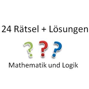 24 Rätsel und Lösungen aus den Bereichen Mathematik und Logik. Ideal zum Befüllen eines Adventskalenders.