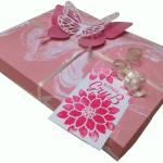 Frühlingshafte Verpackung für Pralinen