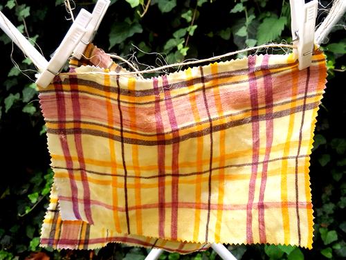 Tuch mit Bienenwachs lässt Du am besten auf der Wäscheleine trocknen.