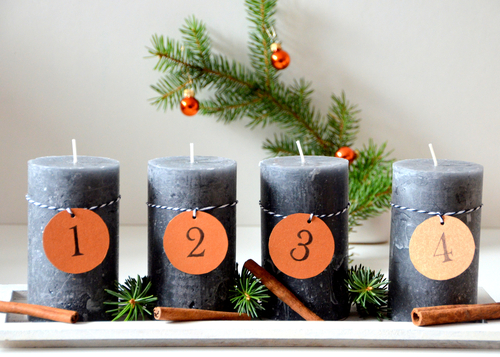 3 x low budget adventskranz diy anleitung bastelrado. Black Bedroom Furniture Sets. Home Design Ideas