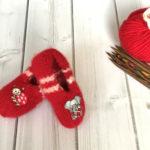 Filzschuhe Sophia – Strickanleitung für kleine Füße