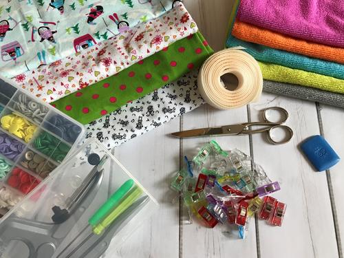Diese Materialien benötigst Du für den Sabberlatz Mini-We