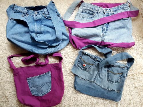 So vielf#ltig kann deine selbstgenähte Jeanstasche sein.