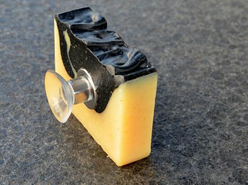 Seifenreich empfiehlt die Aufbewahrung der Seife mittels Seifenhalter