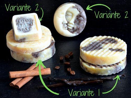 Die Winterseife wird in zwei Varianten hergestellt: Einzelformen und am Stück.