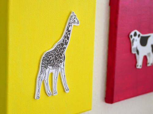 Durch das Balsaholz bekommen deine Wandbilder einen schönen 3D-Effekt.