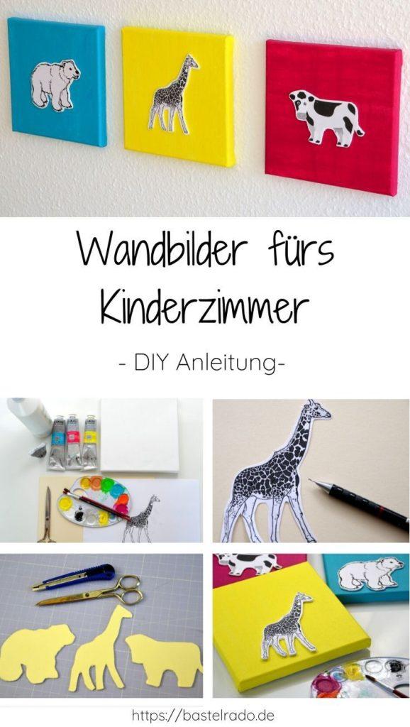 Wandbilder für das Kinderzimmer kannst Du einfach selber machen.