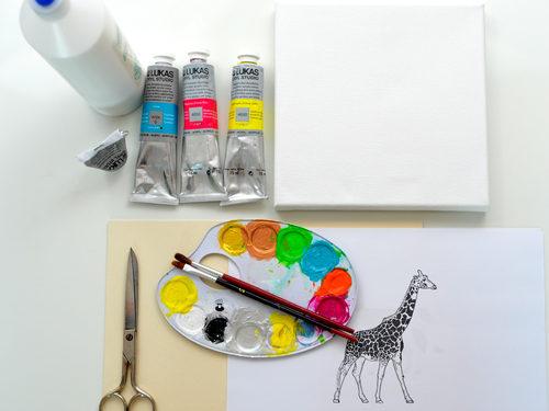 Aus diesen Materialien kannst Du schöne Wandbilder selber machen.